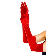 Lange Satin Handschuhe rot