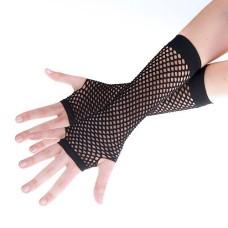 Lange Netzhandschuhe schwarz