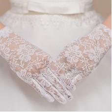 Spitze Handschuhe weiss