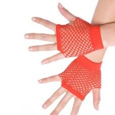 Kurze Netzhandschuhe rot