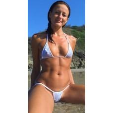 String Tanga Bikini weiss