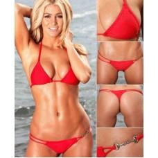 String Tanga Bikini rot