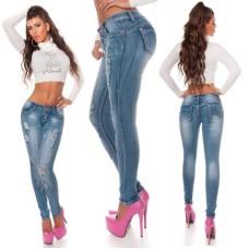 Skinny Jeans im Used Look