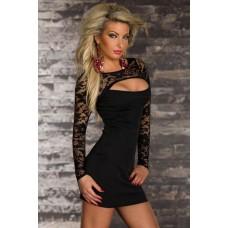 Spitze Kleid schwarz