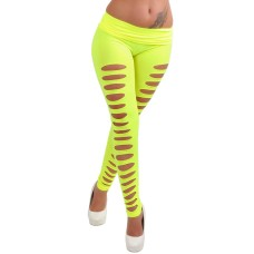 Cut Out Leggings gelb