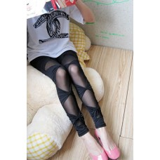Cut Out Leggings schwarz