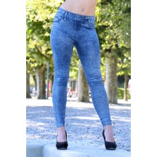 Jeggings blau