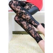 Kunstleder Leggings schwarz