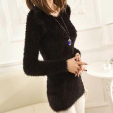 Angora Pullover schwarz